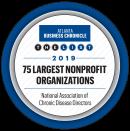 The Atlanta Business Chronicle 2019 list of the 75 Largest Nonprofit Organizations award