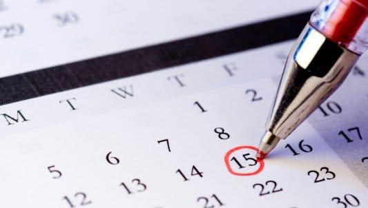 A stock photo of a calendar.