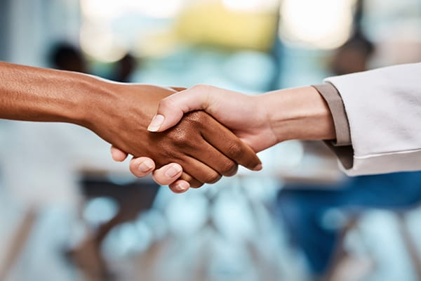 A firm and friendly handshake