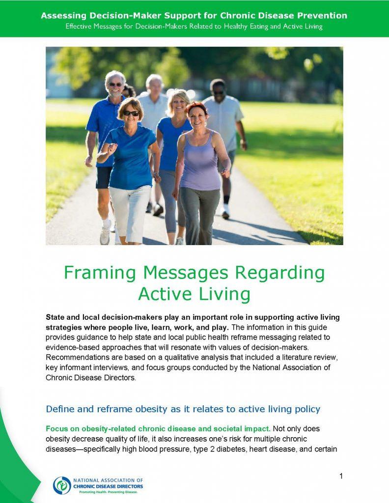 Framing Messages Regarding Active Living thumbnail