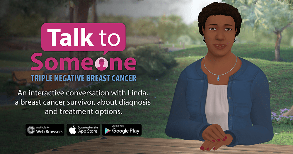 The 'Talk to Someone' advertisement poster.