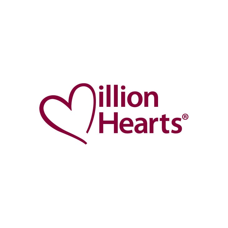 The Million Hearts logo, which has a large heart instead of a regular M.