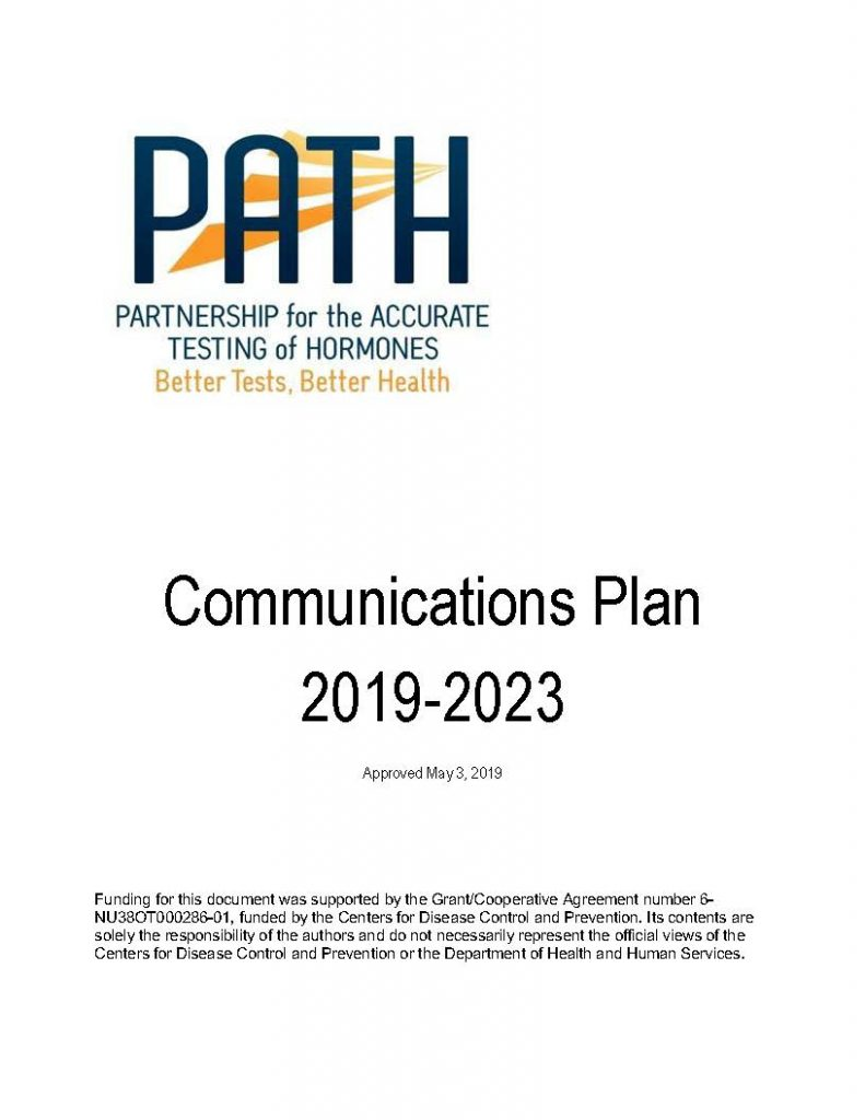 A thumbnail of the cover image of the Communications Plan pdf.