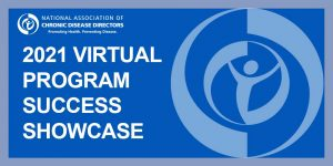 "Blue graphic with ""2021 Virtual Program Success Showcase"" on it with NACDD's logo in light blue"